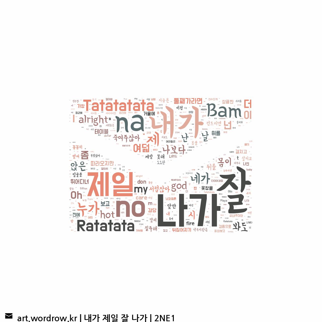 워드 클라우드: 내가 제일 잘 나가 [2NE1]-73